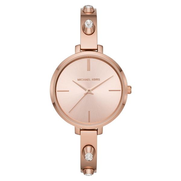 マイケルコース レディース 腕時計 アクセサリー Michael Kors Jaryn Crystal Accent Bangle Watch, 36mm Rose Gold