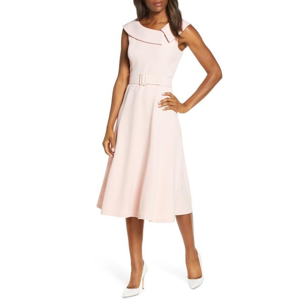 ハーパーローズ レディース ワンピース トップス Harper Rose Envelope Collar Sleeveless Midi Dress Shell Pink