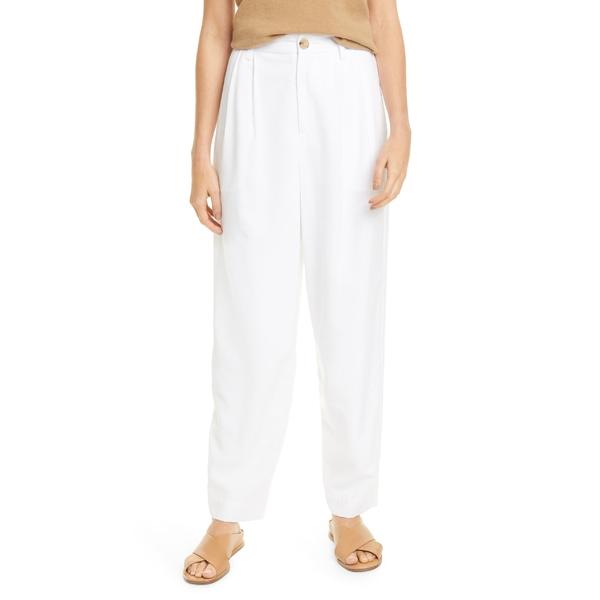 ヴィンス レディース カジュアルパンツ ボトムス Vince Pleat Front Tapered Pants Optic White