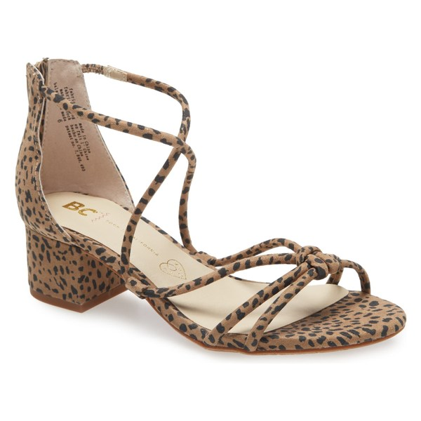 BCフットウェア レディース サンダル シューズ BC Footwear On My Radar Vegan Sandal (Women) Cheetah Print Fabric