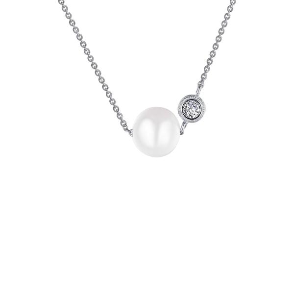 ラフォン レディース ネックレス・チョーカー・ペンダントトップ アクセサリー Lafonn Freshwater Cultured Pearl Necklace Silver/Clear