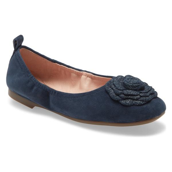 タリンローズ レディース サンダル シューズ Taryn Rose Rosalyn Ballet Flat (Women) Midnight Leather
