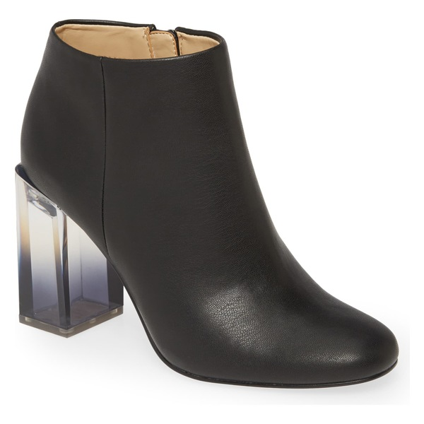 ケイティペリー レディース ブーツ&レインブーツ シューズ Katy Perry Sizzle Transparent Heel Bootie (Women) Black Faux Leather