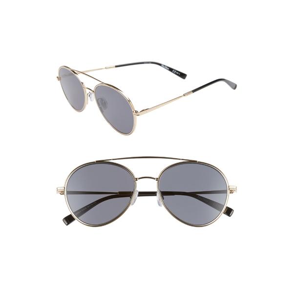 マックスマーラ レディース サングラス&アイウェア アクセサリー Max Mara Wire II 54mm Aviator Sunglasses Gold/ Black