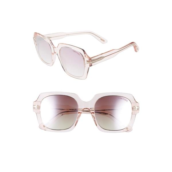 トム・フォード レディース サングラス&アイウェア アクセサリー Tom Ford Autumn 53mm Square Sunglasses Pink/ Gradient Red To Pearl