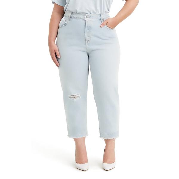 リーバイス レディース カジュアルパンツ ボトムス Levi's 501 Ripped High Waist Crop Straight Leg Jeans (Shout Out) Shout Out