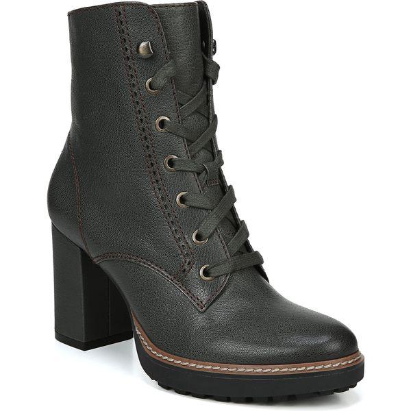 ナチュライザー レディース ブーツ&レインブーツ シューズ Naturalizer Callie Lace-Up Boot (Women) Green Leather
