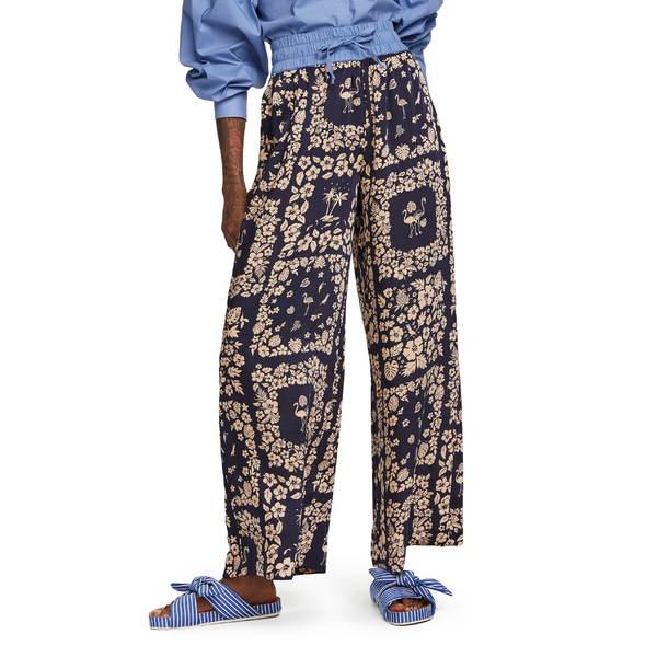 スコッチアンドソーダ レディース カジュアルパンツ ボトムス Scotch & Soda Contrast Waist Wide Leg Pants 0219 - Combo C