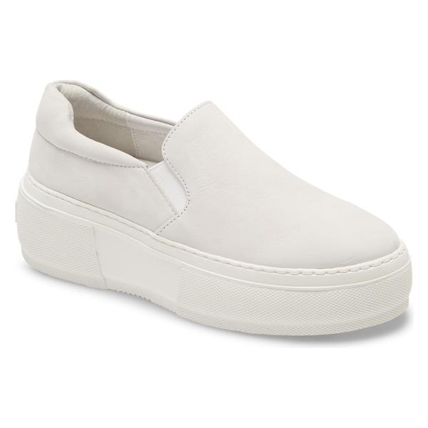 ジェースライズ レディース スニーカー シューズ JSlides Cleo Platform Slip-On Sneaker (Women) White Leather