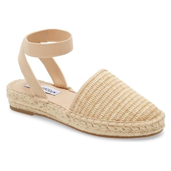 スティーブ マデン レディース サンダル シューズ Steve Madden Merlene Ankle Strap Espadrille (Women) Natural Raffia