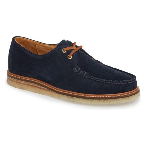 スペリー メンズ ドレスシューズ シューズ Sperry Gold Cup Captain's Crepe Sole Oxford (Men) Blue Leather/ Suede