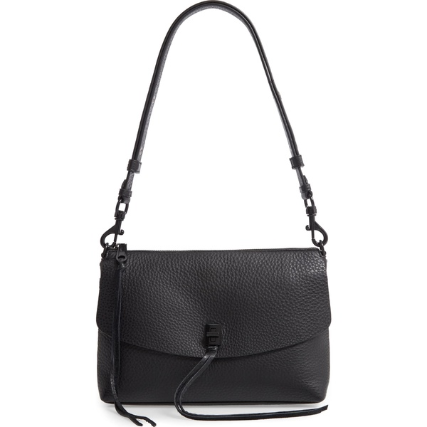 レベッカミンコフ レディース ハンドバッグ バッグ Rebecca Minkoff Darren Leather Shoulder Bag Black