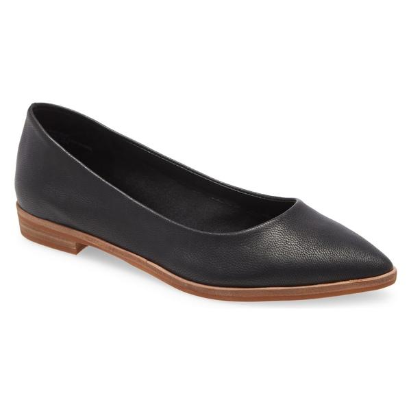 トレジャーアンドボンズ レディース サンダル シューズ Treasure & Bond Kylee Pointed Toe Flat (Women) Black Leather
