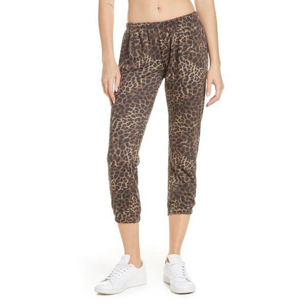 スピリチュアルギャングスタ レディース カジュアルパンツ ボトムス Spiritual Gangster Perfect Crop Sweatpants Cheetah Print