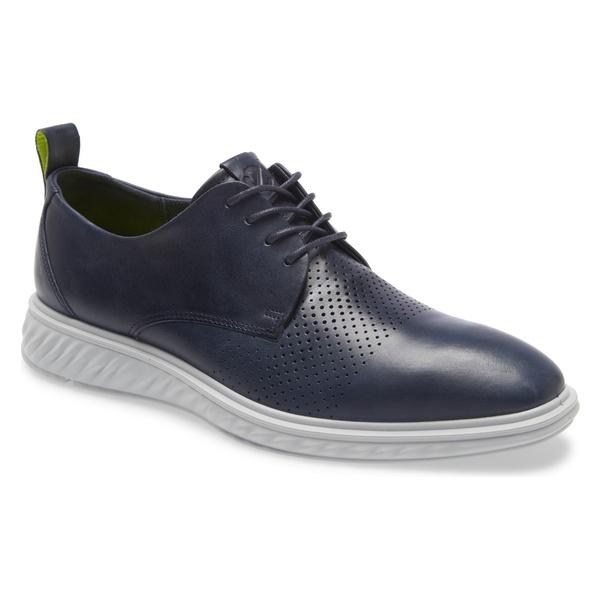 エコー メンズ ドレスシューズ シューズ ECCO ST Hybrid Lite Modern Plain Toe Derby (Men) Denim Blue
