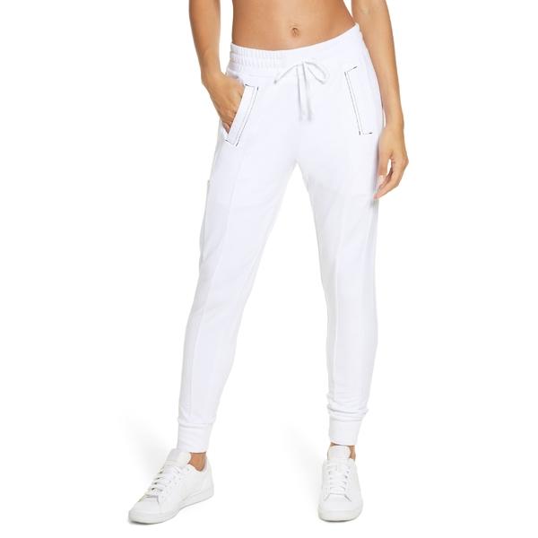 ブランノア レディース カジュアルパンツ ボトムス Blanc Noir Yolo Contrast Stitch Jogger Pants White