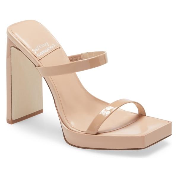 ジェフリー キャンベル レディース サンダル シューズ Jeffrey Campbell Hustler Platform Sandal (Women) Nude Patent Leather