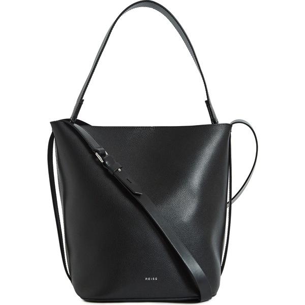 レイス レディース ハンドバッグ バッグ Reiss Hudson Leather Bucket Bag Black