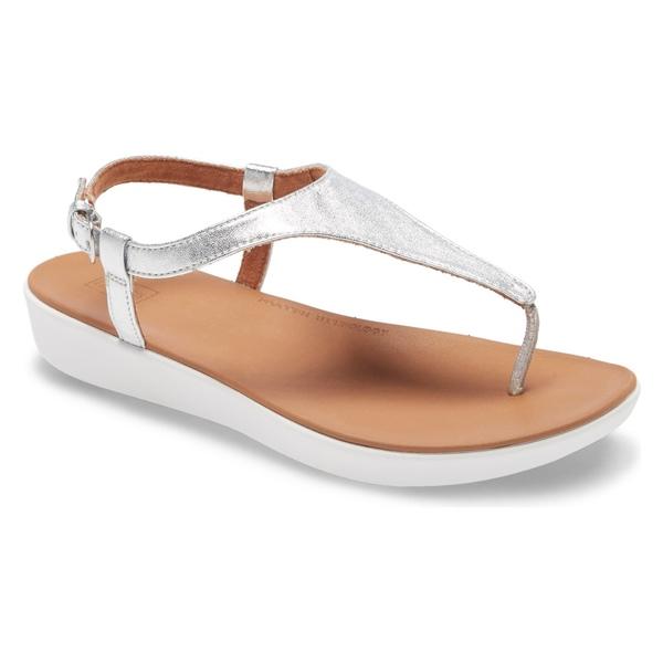 フィットフロップ レディース サンダル シューズ FitFlop Lainey Sandal (Women) Silver Leather