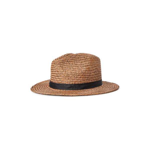 ブリクストン レディース 帽子 アクセサリー Brixton Lera III Straw Fedora Brown
