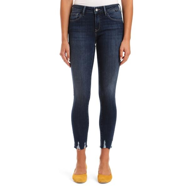 マーヴィ ジーンズ レディース カジュアルパンツ ボトムス Mavi Jeans Adriana Destroyed Hem Ankle Skinny Jeans (Dark Used) Dark Used Destroy Super Soft