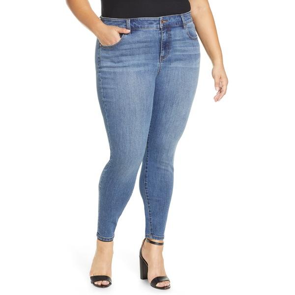 リバプール レディース カジュアルパンツ ボトムス Liverpool Abby High Waist Ankle Skinny Jeans (Laine) (Plus Size) Laine