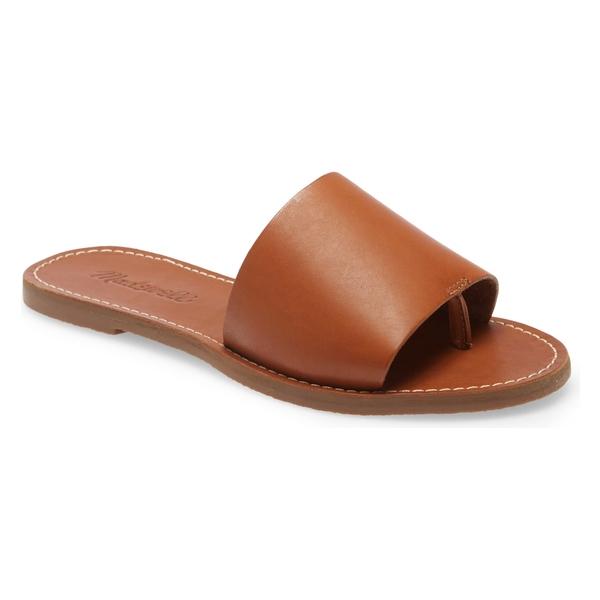 メイドウェル レディース サンダル シューズ Madewell Boardwalk Post Slide Sandal (Women) English Saddle