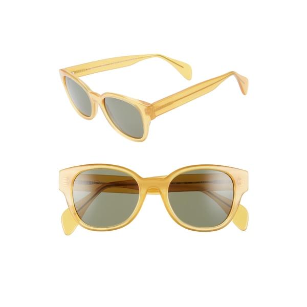 オスカーデラレンタ レディース サングラス&アイウェア アクセサリー Oscar de la Renta x Morgenthal Frederics Sabrina 50mm Cat Eye Sunglasses Butterscotch Amber