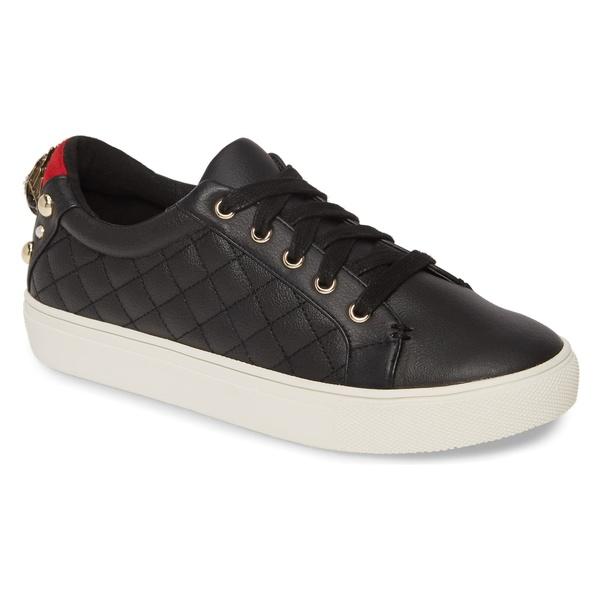 カートジェイガーロンドン レディース スニーカー シューズ Kurt Geiger London Ludo Sneaker (Women) Black Leather