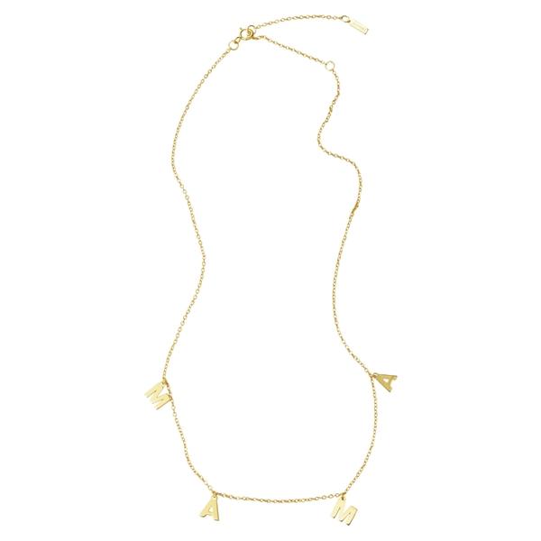 アドニア レディース ネックレス・チョーカー・ペンダントトップ アクセサリー ADORNIA Mama Shaker Necklace Metallic Gold