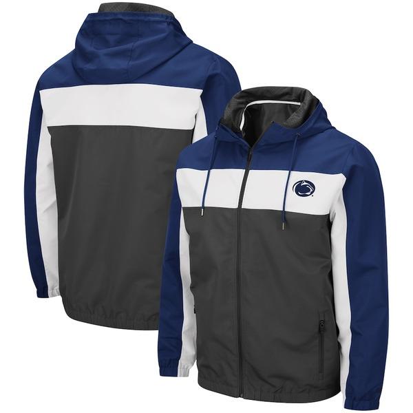 コロシアム メンズ ジャケット&ブルゾン アウター Penn State Nittany Lions Colosseum Brockman Full-Zip Jacket Charcoal
