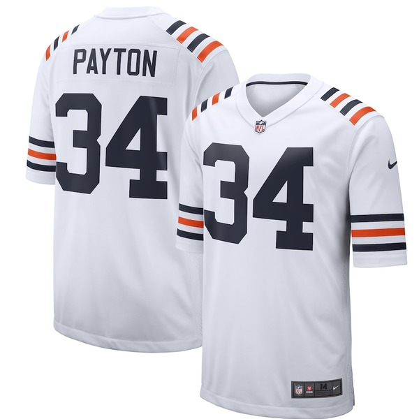 ナイキ メンズ シャツ トップス Walter Payton Chicago Bears Nike 2019 Alternate Classic Retired Player Game Jersey White