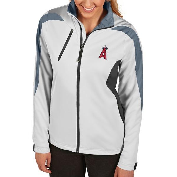 アンティグア レディース ジャケット&ブルゾン アウター Los Angeles Angels Antigua Women's Discover Full-Zip Jacket White