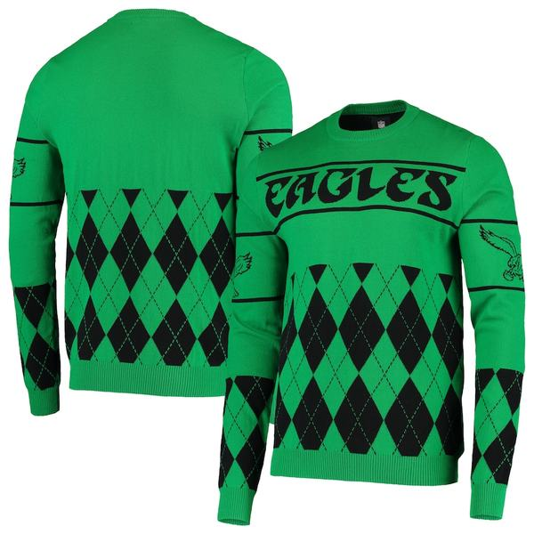 フォコ メンズ シャツ トップス Philadelphia Eagles Retro Sweater Green