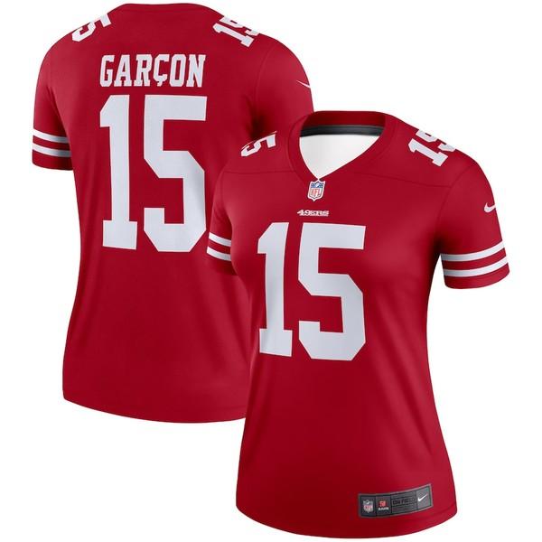 ナイキ レディース シャツ トップス Pierre Garcon San Francisco 49ers Nike Women's Legend Jersey Scarlet