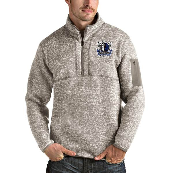 アンティグア メンズ ジャケット&ブルゾン アウター Dallas Mavericks Antigua Fortune Quarter-Zip Pullover Jacket Natural