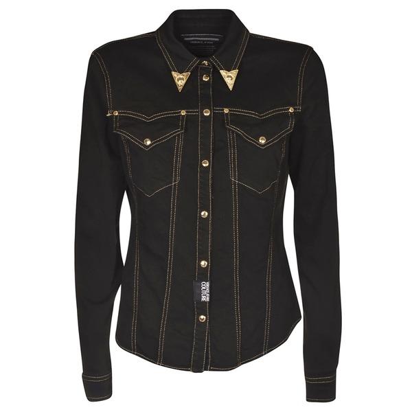 ベルサーチ レディース ジャケット&ブルゾン アウター Versace Jeans Couture Button Up Jacket Nero