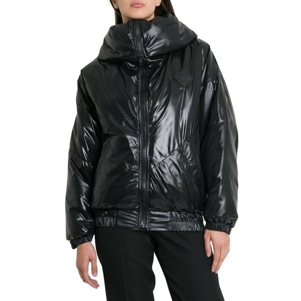 ジバンシー レディース ジャケット&ブルゾン アウター Givenchy Puff Jacket With Logo And Spread Collar Nero