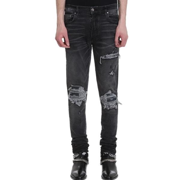 アミリ メンズ デニムパンツ ボトムス AMIRI Dark Grey Denim Jeans black
