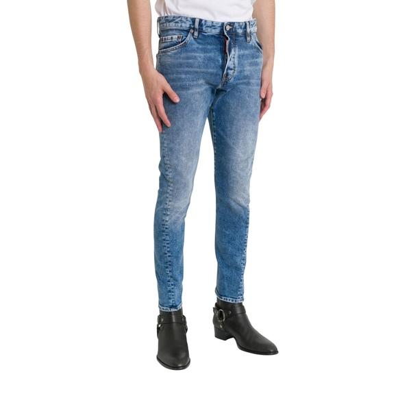 ディースクエアード メンズ デニムパンツ ボトムス Dsquared2 Sexy Twist Skinny Jeans Blu