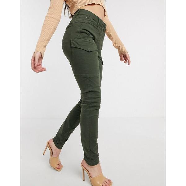 ジースター レディース カジュアルパンツ ボトムス G-Star blossite utility high rise skinny pants in green Algae