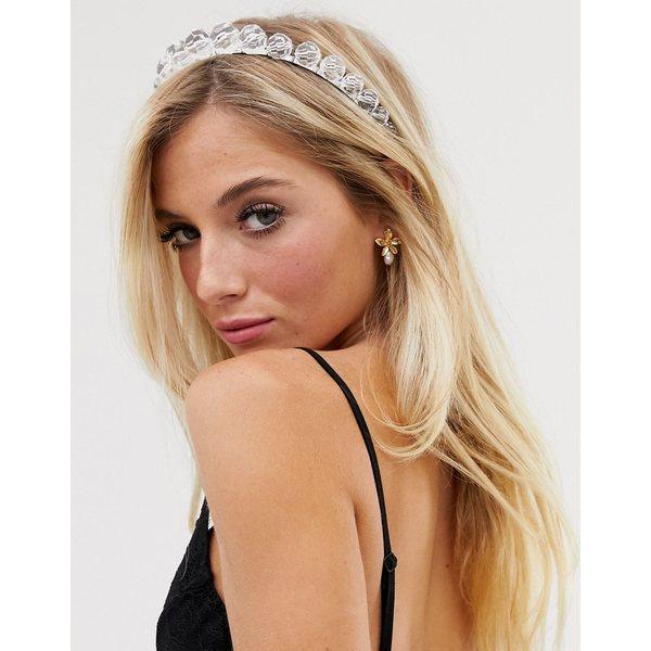 エイソス レディース アクセサリー ヘアアクセサリー Clear 全商品無料サイズ交換 エイソス レディース ヘアアクセサリー アクセサリー ASOS DESIGN headband with clear resin beads Clear