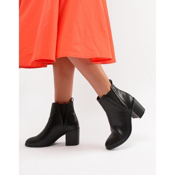 エイソス レディース ブーツ&レインブーツ シューズ ASOS DESIGN Reside heeled ankle chelsea boots Black
