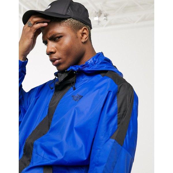ノースフェイス メンズ ジャケット&ブルゾン アウター The North Face Yung Blade wind jacket in blue Black
