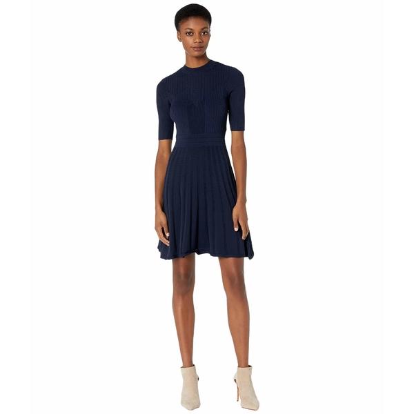 テッドベーカー レディース ワンピース トップス Olivinn Stitch Detail Dress Navy