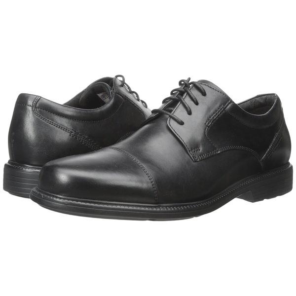 ロックポート メンズ ドレスシューズ シューズ Charles Road Cap Toe Oxford Black Leather