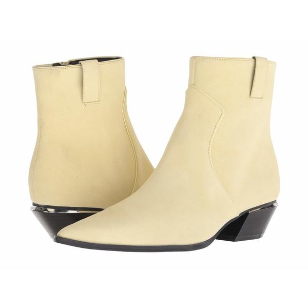 カルバンクライン レディース ブーツ&レインブーツ シューズ Nanuka Pastel Yellow Leather Suede