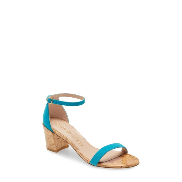 スチュアート ワイツマン レディース サンダル シューズ Simple Ankle Strap Sandal Caribe/ Natural