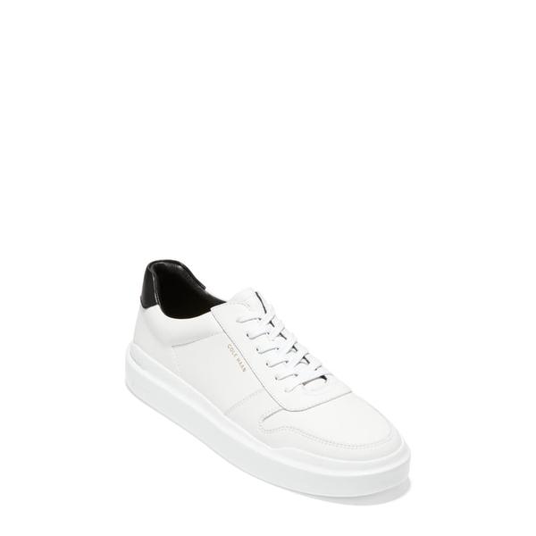 コールハーン レディース スニーカー シューズ GrandPro Rally Sneaker White/ Black Leather