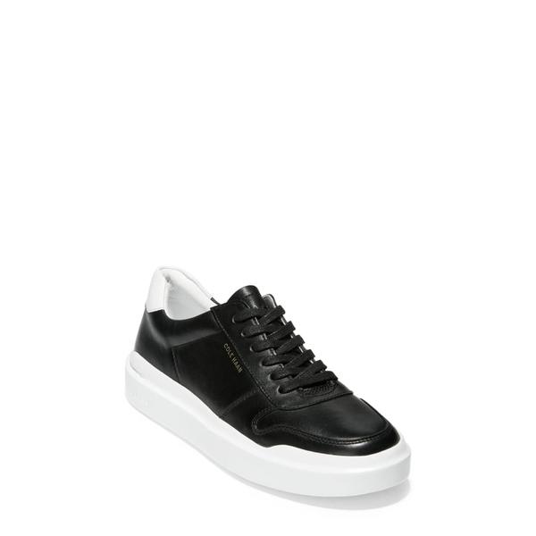 コールハーン レディース スニーカー シューズ GrandPro Rally Sneaker Black/ White Leather